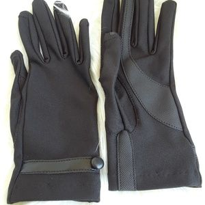 Accessories - Black Nylon Gloves